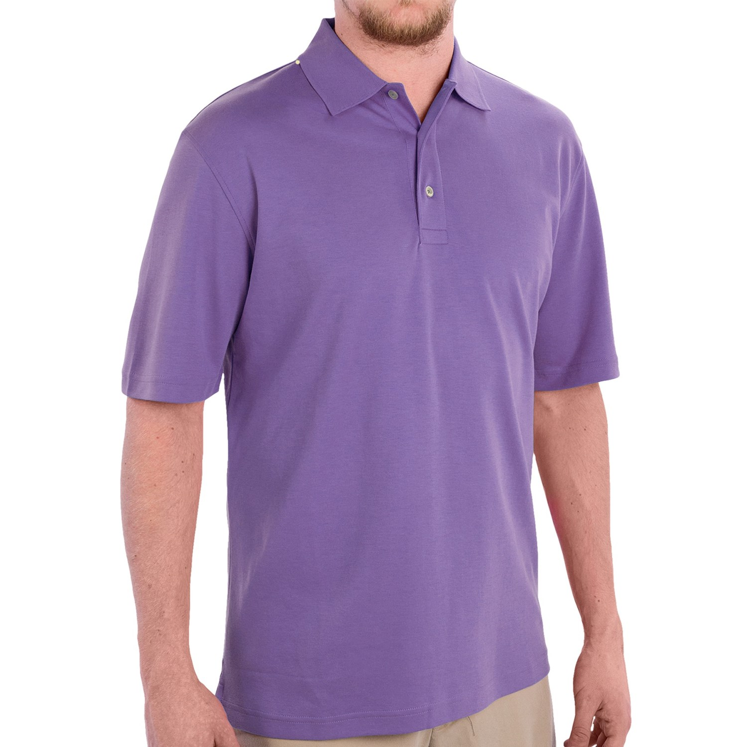 scott barber pima cotton jersey polo shirt for men