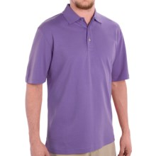 Scott Barber Pima Cotton Jersey Polo Shirt - Short Sleeve (For Men) in Lavender - Closeouts
