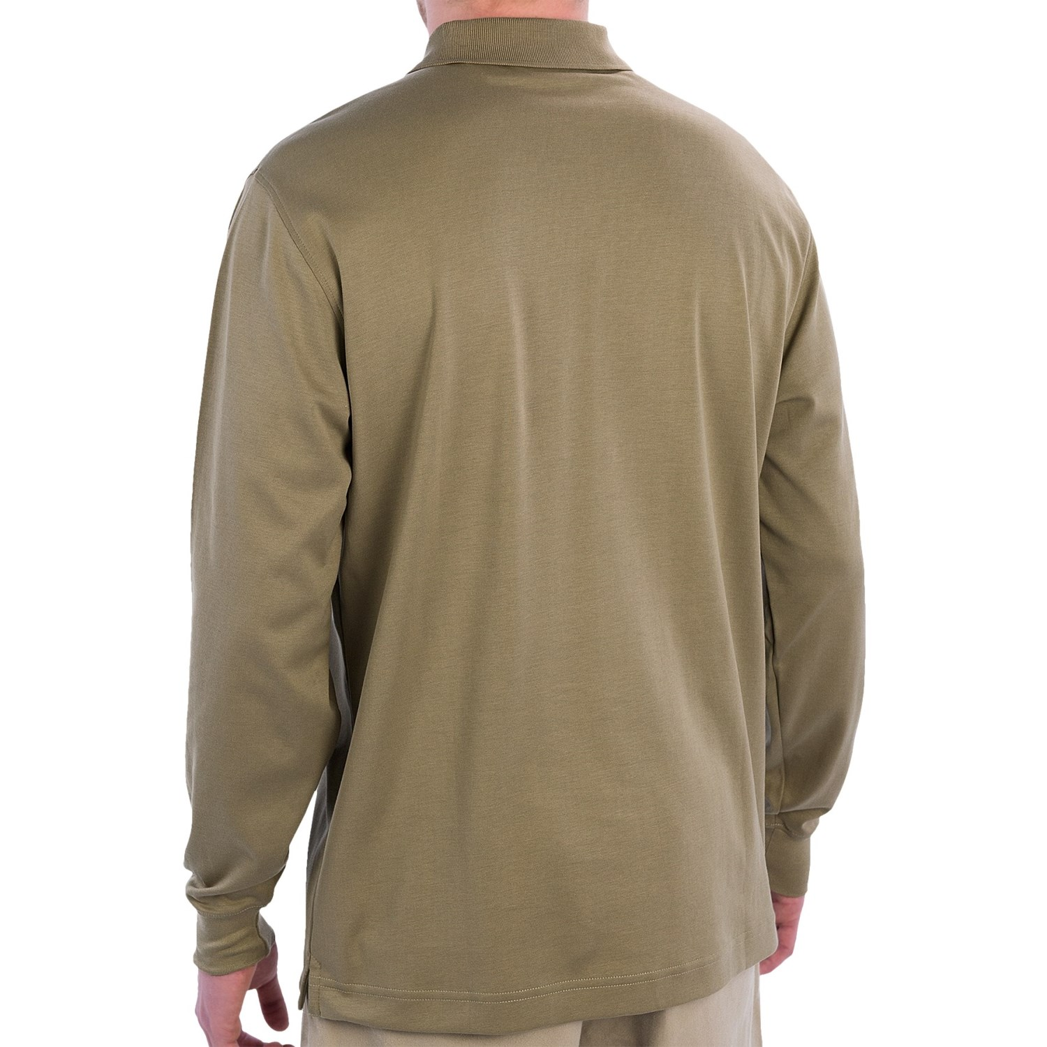 9214y 2 scott barber pima cotton polo shirt long sleeve for Cotton polo shirts for men