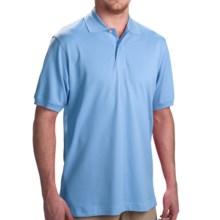 Scott Barber Pima Cotton Polo Shirt - Short Sleeve (For Men) in Mediterranen Blue - Closeouts