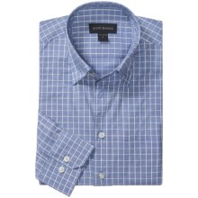 Scott Barber Spring Andrew Check Sport Shirt - Hidden Button Down, Long Sleeve (For Men) in Blue/White - Closeouts