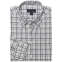 Scott Barber Spring Andrew Plaid Sport Shirt - Long Sleeve (For Men) in Black/Grey - Closeouts