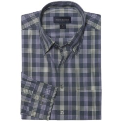 Scott Barber Spring Andrew Plaid Sport Shirt - Long Sleeve (For Men) in Black/Grey