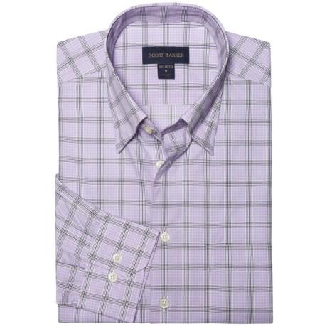 Scott Barber Spring Andrew Plaid Sport Shirt - Long Sleeve (For Men) in Lavender