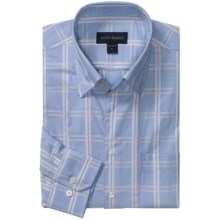 Scott Barber Spring Andrew Windowpane Sport Shirt - Long Sleeve (For Men) in Lt Blue - Closeouts
