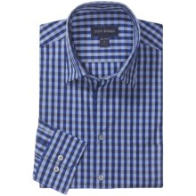 Scott Barber Spring Christopher Check Sport Shirt - Spread Collar, Long Sleeve (For Men) in Navy - Closeouts