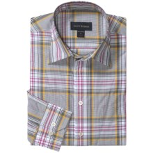 Scott Barber Spring Christopher Plaid Sport Shirt - Long Sleeve (For Men) in Grey/White/Plum - Closeouts