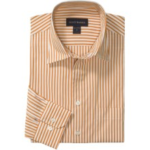 Scott Barber Spring Christopher Stripe Sport Shirt - Long Sleeve (For Men) in Orange - Closeouts