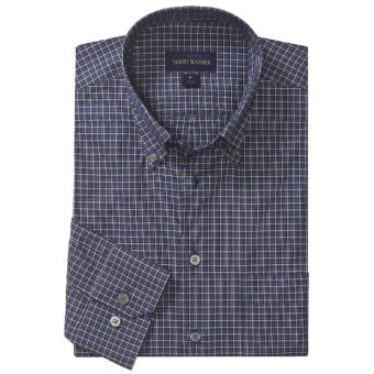 Scott Barber Spring James Check Sport Shirt - Cotton, Long Sleeve (For Men) in Slate