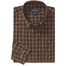 Scott Barber Spring James Sport Shirt - Cotton Plaid, Long Sleeve (For Men) in Brown/Black - Closeouts
