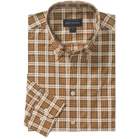 Scott Barber Spring James Sport Shirt - Cotton Plaid, Long Sleeve (For Men) in Butterscotch