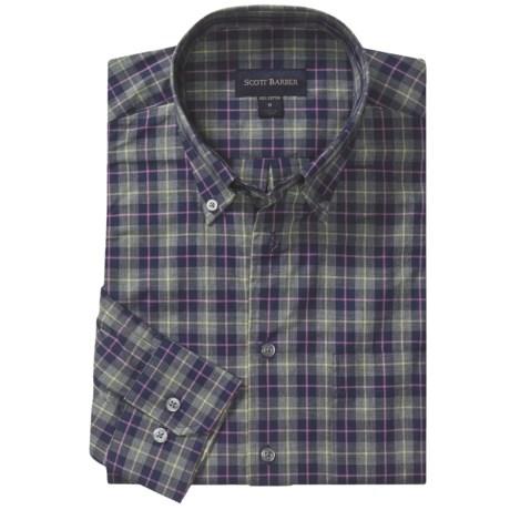 Scott Barber Spring James Sport Shirt - Cotton Plaid, Long Sleeve (For Men) in Multi Flannel