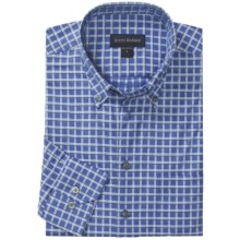 Scott Barber Spring James Sport Shirt - Cotton Windowpane, Long Sleeve (For Men) in Blue - Closeouts