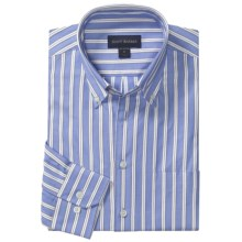 Scott Barber Spring James Stripe Sport Shirt - Cotton, Long Sleeve (For Men) in Blue - Closeouts