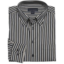Scott Barber Stripe Sport Shirt - Long Sleeve (For Men) in Black/Tan/Brown - Closeouts