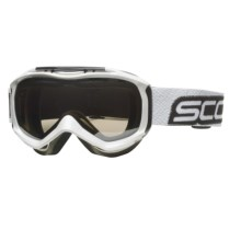 Scott Broker Winter Sport Goggles - Nl-32 Black Chrome Lens in Gloss White/Nl-32 Black Chrome - Closeouts
