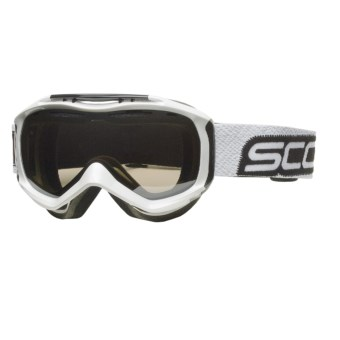 Scott Broker Winter Sport Goggles - Nl-32 Black Chrome Lens in Gloss White/Nl-32 Black Chrome