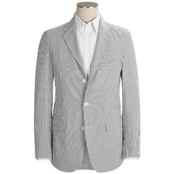 Scott James Arden Seersucker Jacket (For Men) in Grey