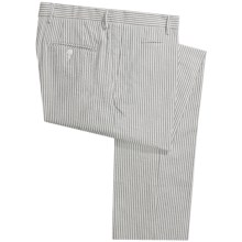 Scott James Arden Seersucker Pants - Flat Front (For Men) in Grey - Closeouts