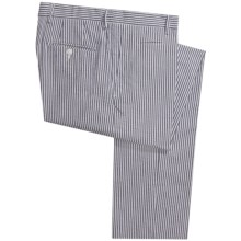 Scott James Arden Seersucker Pants - Flat Front (For Men) in Navy - Closeouts