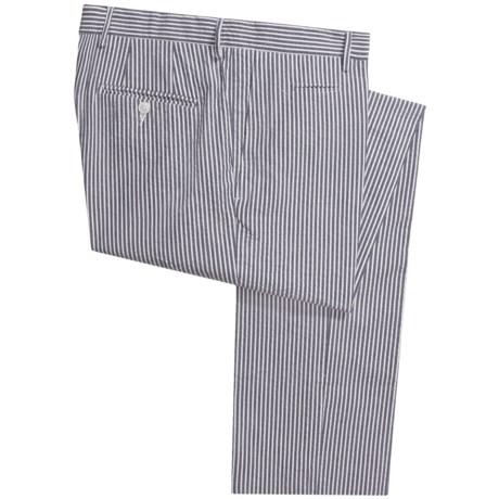 Scott James Arden Seersucker Pants - Flat Front (For Men) in Navy