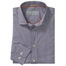 Scott James Heath Micro-Check Sport Shirt - Long Sleeve (For Men) in Brown - Closeouts
