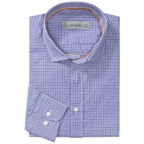 Scott James Heath Micro-Check Sport Shirt - Long Sleeve (For Men) in Purple