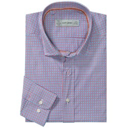 Scott James Heath Micro-Check Sport Shirt - Long Sleeve (For Men) in Purple