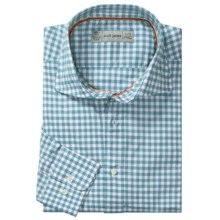 Scott James Hilton Gingham Sport Shirt - Long Sleeve (For Men) in Aqua - Closeouts