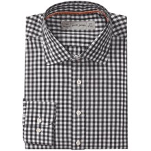 Scott James Jonathan Mini Check Shirt - Long Sleeve (For Men) in Black - Closeouts