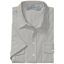 Scott James Kris Shirt - Stretch Cotton Knit, Short Sleeve (For Men) in Grey - Closeouts