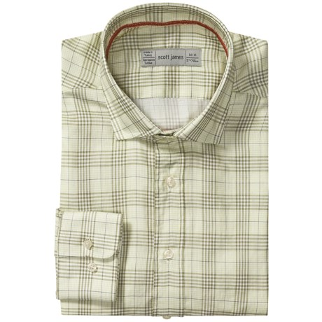 Scott James Landon Plaid Shirt - Long Sleeve (For Men) in Brown