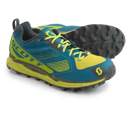SCOTT Kinabalu Supertrac Trail Running Shoes (For Men) in Blue/Yellow - Closeouts