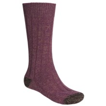 Scott Nichol by Pantherella Cable Weave Socks - Wool-Cashmere Blend (For Men) in Damson/Earth - Closeouts