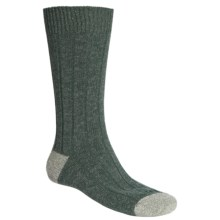 Scott Nichol by Pantherella Cable Weave Socks - Wool-Cashmere Blend (For Men) in Fern/Moss - Closeouts