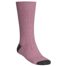Scott Nichol by Pantherella Cable Weave Socks - Wool-Cashmere Blend (For Men) in Heather Pink/Navy - Closeouts