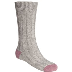 Scott Nichol by Pantherella Cable Weave Socks - Wool-Cashmere Blend (For Men) in Heather Pink/Navy