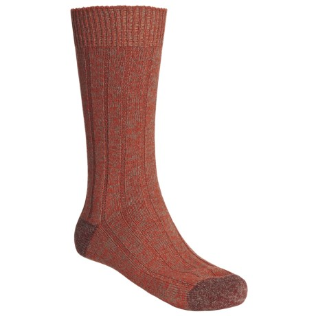 Scott Nichol by Pantherella Cable Weave Socks - Wool-Cashmere Blend (For Men) in Pumpkin/Rust