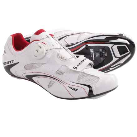 SCOTT Road Team BOA® Cycling Shoes - 3-Hole (For Men) in White - Closeouts