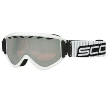 Scott Strike Snowsport Goggles in White/Chrome Amplifier - Closeouts