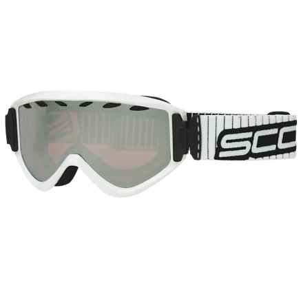 SCOTT Strike Snowsport Goggles in White/Chrome Amplifier - Closeouts