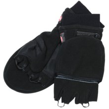 Scott Windstopper® Flip-Top Mittens - Fleece (For Men and Women) in Black - Closeouts