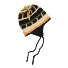 Screamer Calvin Hat - Fleece Lining, Ear Flaps (For Men and Women) in Black/Orange - Closeouts