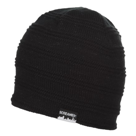 a846ece867b Screamer Campbell Fleece-Lined Beanie (For Men and Women) in Black -  Closeouts