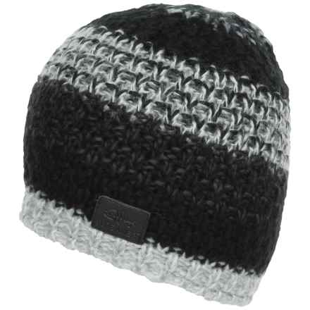 Screamer Campbell Fleece-Lined Beanie (For Men) in Black/White - Closeouts