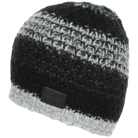 Screamer Campbell Fleece-Lined Beanie (For Men) in Black/White