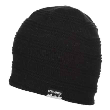 Screamer CAMPBELL LINED BEANIE (FOR MEN AND WOMEN) in Black - Closeouts