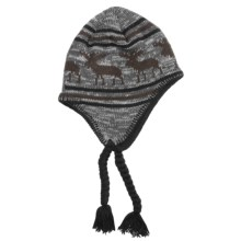 Screamer Caribou Hat - Fleece Lining, Ear Flaps (For Men and Women) in Black/Chocolate - Closeouts