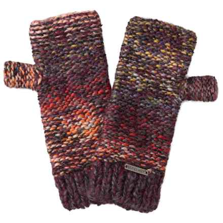 Screamer Chellene Fingerless Mittens - Wool Blend (For Women) in Eggplant - Closeouts