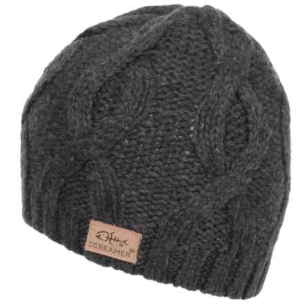 Screamer Chunky Cable Beanie (For Men) in Charcoal - Closeouts